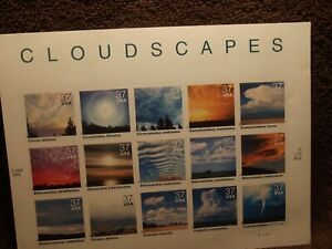 SCOTT # 3878 (37cx15) Cloudscapes USPS Commemorative Stamp Pane MNH