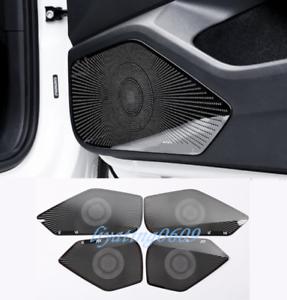 4PCS Black titanium Inner Door Audio Speaker Cover Trim For VW Arteon 2019