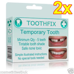 2x missing tooth filler temporary cosmetic replacement repair diy image is loading 2x missing tooth filler temporary cosmetic replacement repair solutioingenieria Image collections