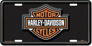 Chroma-Graphics-1846-License-Plate-Harley-Davidson-Auto-Tag-with-bar-and-shie