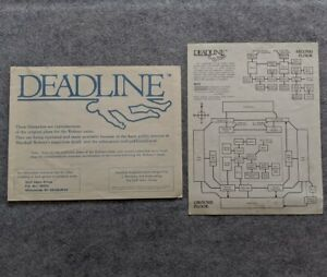 Zork-Users-Group-Deadline-Blueprints-and-Map-Infocom-rare-vintage-computer-game