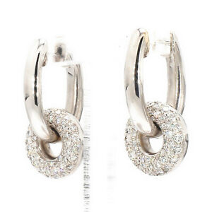 18K-White-Gold-1-07ctw-Diamond-Hinged-Dangle-Charm-Hoop-Earrings