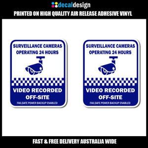 Security-Camera-Surveillance-Decals-2-pack-blue-offsite-recording-stickers-S504