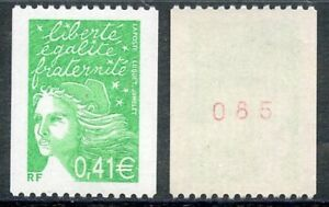 Fougueux Stamp / Timbre France Neuf N° 3458a ** Marianne Du 14 Juillet / Roulette
