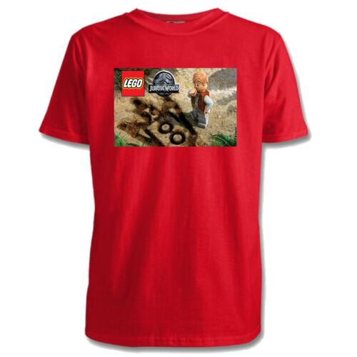 Lego Jurassic World Kids T-Shirts Sizes 1-15 Yrs 5 Designs 7 Colours