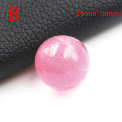 Natural Healing Crystal Pink Rose Quartz Gemstone Ball Divination Sphere global