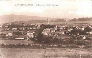 CARTOLINA-ST-HONORE-LES-BAINS-Le-Bourg-et-la-Vieille-Montagne-1920-ca