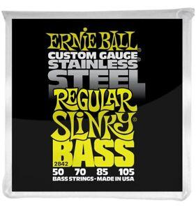 Ernie-Ball-2842-Jeu-de-cordes-basse-Regular-Slinky-Stainless-Steel-50-105