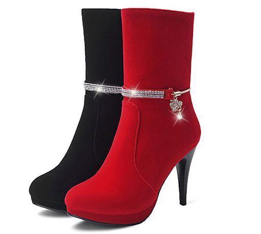 Stivaletti stivali scarpe  donna tacco 10 cm simil pelle  comodi eleganti  pelle 9128 5190d9