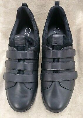 Black Comfort Shoes w/Velcro Straps | eBay
