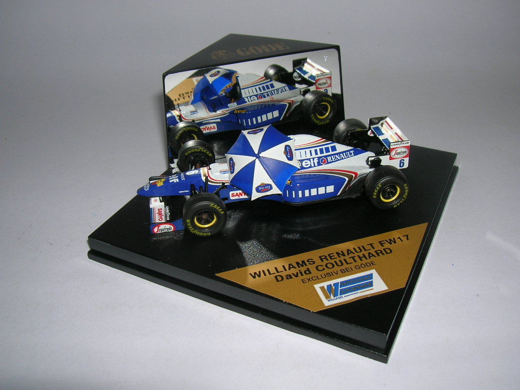 Göde Edition Formule 1 Williams Renault fw17 David Coulthard 1 43  6 type 4520012
