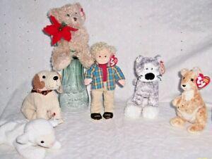 BEANIE BABY:SUMMIT-FLEECE-RUFUS-RUGGED RUSTY-HOL BEAR: U CHOOSE