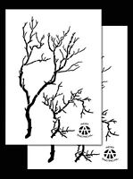 2 Pack Vinyl Airbrush Camo Stencils Camouflage For Duracoat 14 (gnarly Branch)