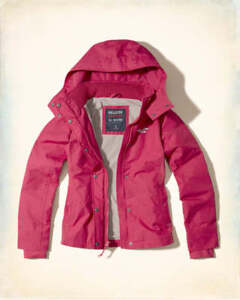 Details Abercrombie Hollister Pink Nwt By All Fleece Lined Jacket M About Women's Weather v8n0wmN