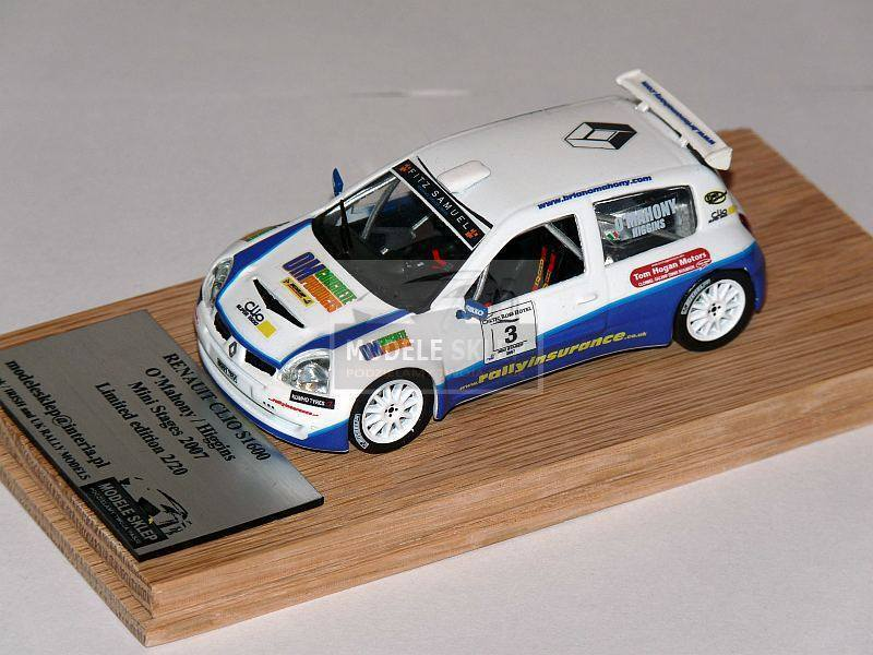 O MAHONY RENAULT CLIO S1600 Mini Stages 2007 code3 model 1 43