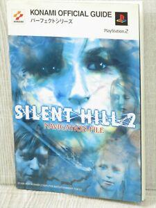 Silent Hill 2 Guía de Archivos de navegación libro de Japón PS2 2001 SK91