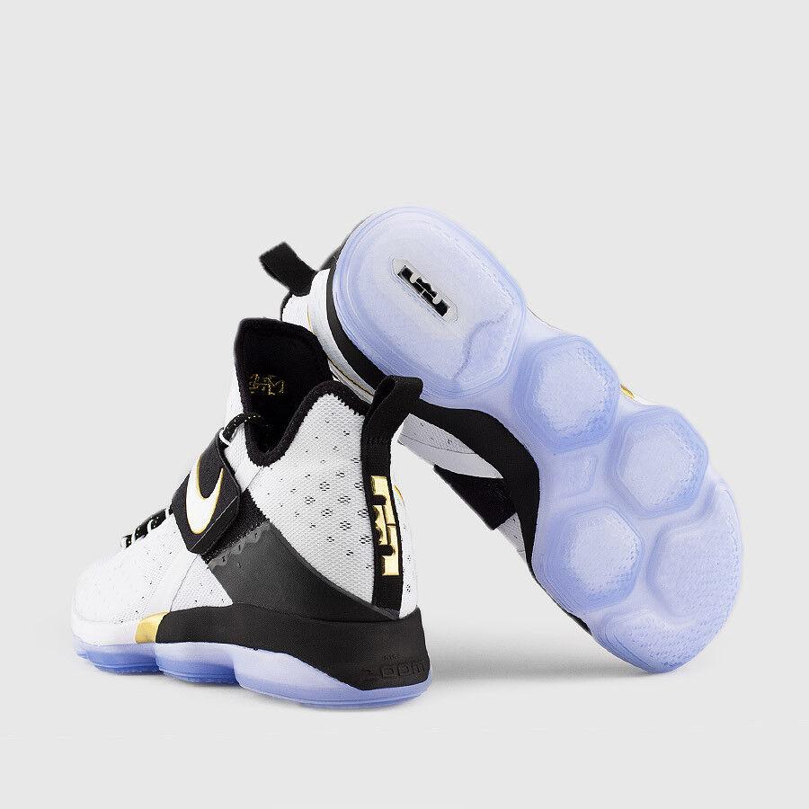 Nike lebron 14 bhm oro bianco nero taglia 13,5.860634-100 kyrie finale mvp cavs finale kyrie a9ea72