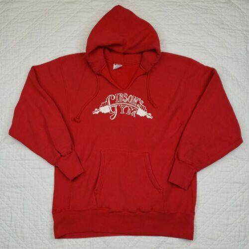 Vintage Champion Reverse Weave Red Hoodie Pullover