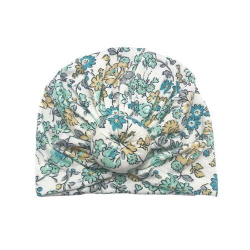 Baby Toddler Hat Floral Print Turban Cap Newborn Head Wrap Beanie Knot Headband