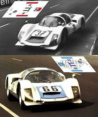 Calcas Porsche 906 Le Mans 1966 1:32 1:43 1:24 1:18 64 87 slot decals