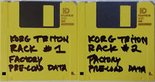 Korg TRITON RACK Data Factory PRELOAD Data FLOPPY discs 1 + 2
