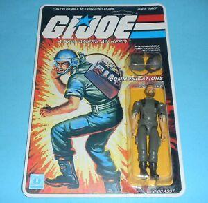 *RECARDED* 1982 GI Joe Breaker v1 Figure Complete Sealed *CUSTOM File Card Back*
