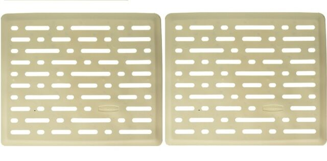 Rubbermaid Small Twin Size Sink Mat Bisque 1g17 06