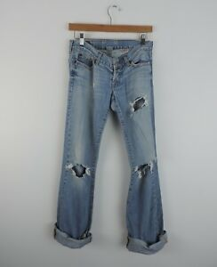 Women-039-s-Lucky-Brand-Destroyed-Boyfriend-Holy-Jeans-Size-2-26