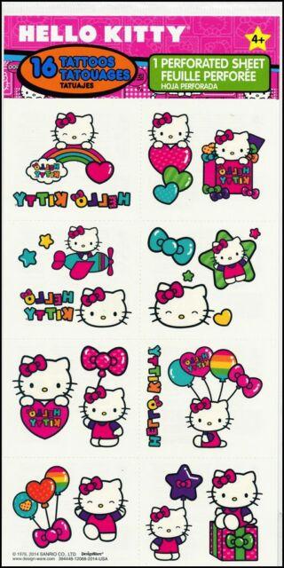 Hello Kitty Tattoos - Hello Kitty Birthday Party Supplies Loot Bag Ideas - Girls