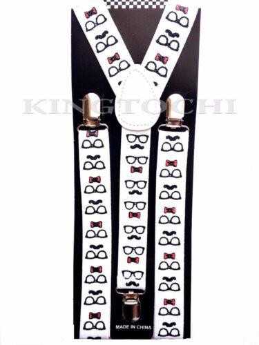 New Mens Women Mustache Clip-on Suspenders Elastic Y-Shape Adjustable Braces