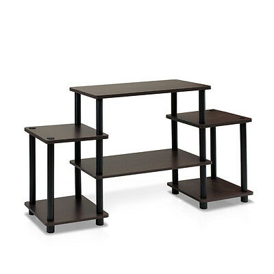 Furinno Turn-N-Tube No Tools Entertainment TV Stands 11257DBR/BK NEW