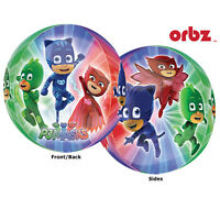 Pj Masks Cartoon Disney Superhero 4 Sides Orbz 16 Round Balloons Party 2 Pack