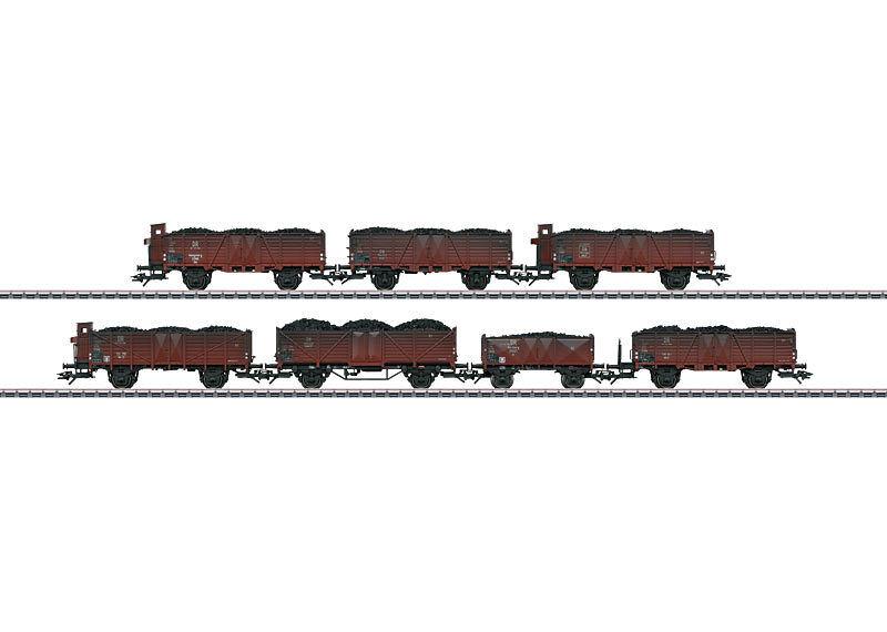 Trix 24258 Set Vagón de Cochega -7-teilig Om 21 , 12 , Omm 37 , o 11 Escala H0