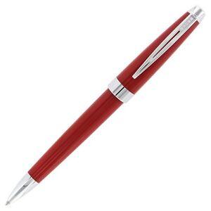 CROSS - AVENTURA - Ballpoint Pen - RED & CHROME - w/ 5 Free Refills