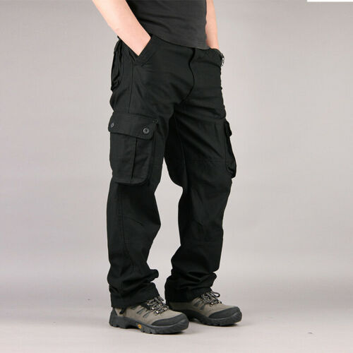 HOT Men/'s Military Army Combat Trousers Loose Cargo Pants Casual Multi Pockets