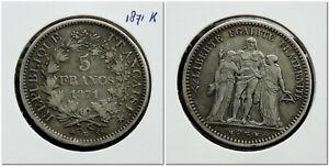 France-5-Francs-1871-K-Hercules-group-Key-date