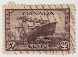 1942-1943 Canada - King George VI - 20 Cent Stamp