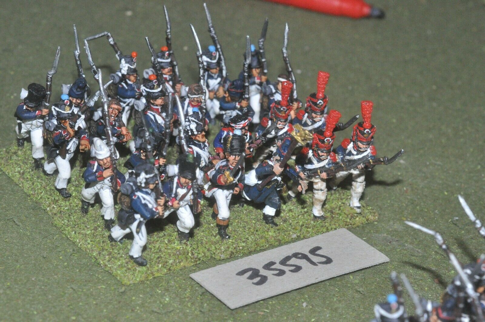 25mm napoleonic   french - regiment 24 figures - inf (35595)