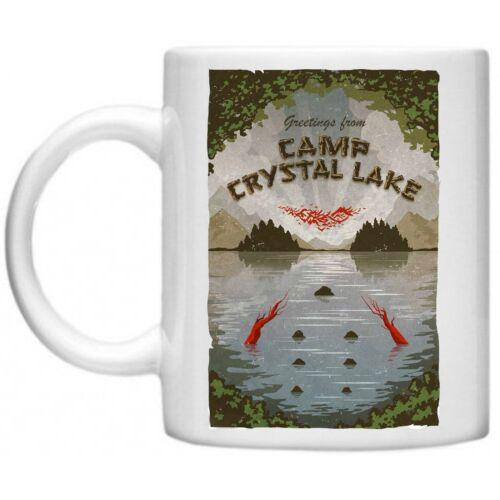 Camp Crystal Lake Friday 13th Jason Voorhees film d/'horreur Memorabilia 10 oz environ 283.49 g Mug
