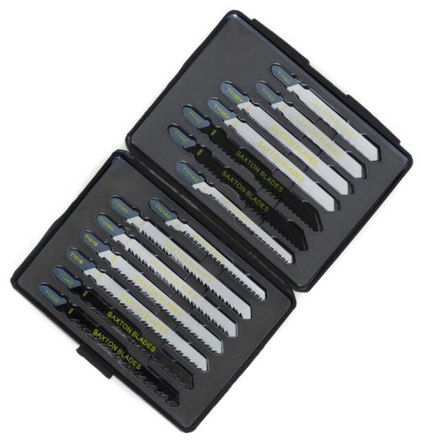 14pc Saxton Jigsaw Blade Set Wood & Metal fits Bosch Dewalt Makita Festool