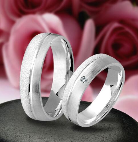 1 von 1 - Trauringe , Eheringe mit Stein , Verlobungsringe , Silber 925 , J12-1