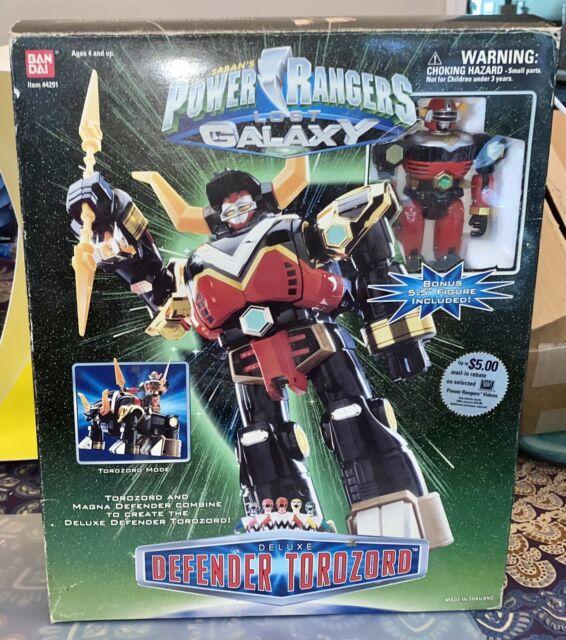 Rare 1998 Bandai Power Rangers Lost Galaxy Defender Torozord Megazord