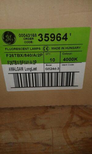 5 x 26W GE F26TBX//840//A//2P 840 Cool White 2-Pin GX24d-3 Light Bulb Lamps Job Lot