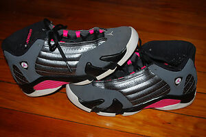 new style 241b1 07590 Air Jordan 14 Retro XIV GS Metallic Dark Grey Pink Sneaker (8 ...