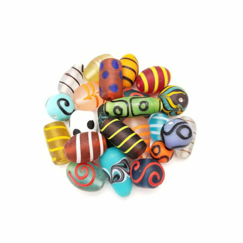 African style lampworked glass beads 10-25mm mixed shapes