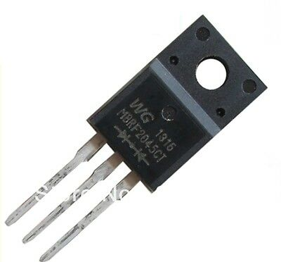 5pcs MBRF2045CT MBR2045 DIODE SCHOTTKY 45V/20A TO-220