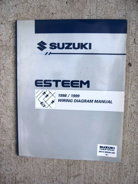 1998 1999 Suzuki Esteem Auto Wiring Diagram Manual