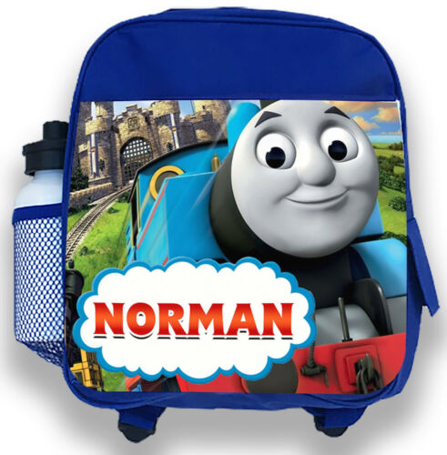 Personalised Kids Backpack Any Name Thomas Design Boys Childrens School Bag