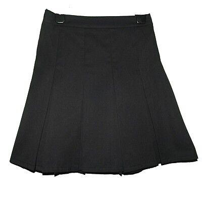 Older Girls Black School Skirt 13 Years Exstore New Adjustable Waist Zip Up