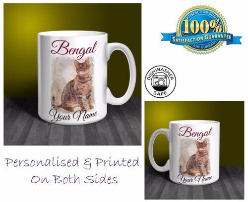 Bengal Cat Personalised Ceramic Mug Perfect Gift. CA01